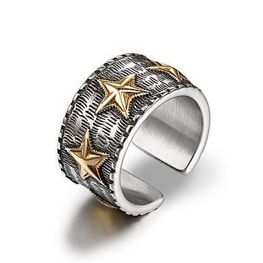 זול טבעות-בגדי ריקוד גברים טבעת הטבעת קאף טבעת מתכת אל חלד Military Fashion Ring תכשיטים כסף עבור יומי רשמי 7 / 8 / 9 / 10 / 11