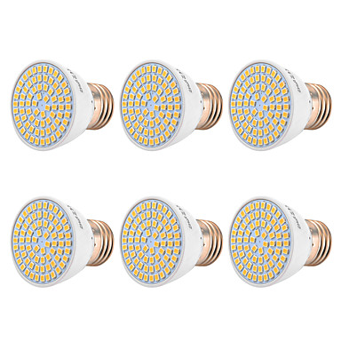 YWXLIGHT® 6kom 7 W 500-700 lm E26 / E27 LED reflektori 72 LED zrnca SMD 2835 Toplo bijelo / Hladno bijelo / Prirodno bijelo 220-240 V / 110-130 V