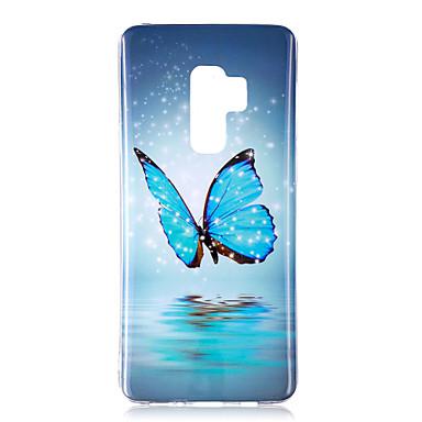 Недорогие Чехлы и кейсы для Galaxy S6 Edge-Кейс для Назначение SSamsung Galaxy S9 / S9 Plus / S8 Plus Сияние в темноте / IMD / С узором Кейс на заднюю панель Бабочка / Блеск Мягкий ТПУ