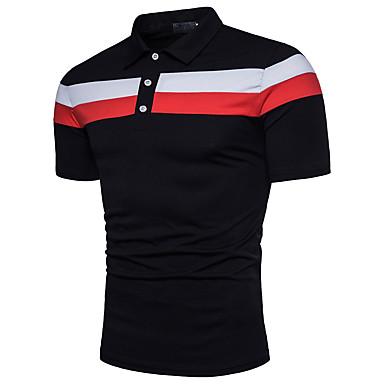 economico Abbigliamento uomo-Polo Per uomo Attivo Basic, Monocolore Colletto - Cotone Bianco XL / Manica corta / Estate