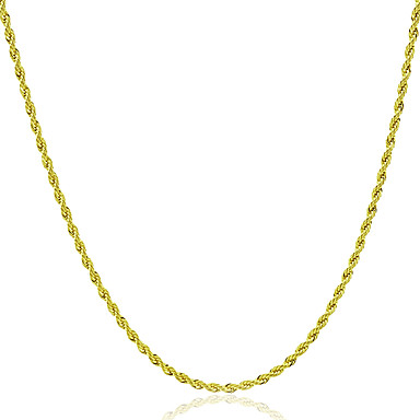 cheap Necklaces-Men's Women's Chain Necklace Rock Fashion Gold Necklace Jewelry 1pc For Gift Daily