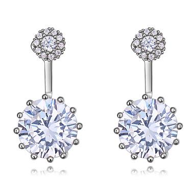 03210b682766 abordables Joyería para Mujer-Mujer Diamante Zirconia Cúbica Moissanite  Pendientes elegantes por delante y por