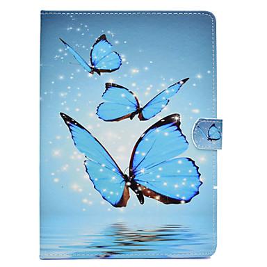 voordelige Samsung Tab-serie hoesjes / covers-hoesje Voor Samsung Galaxy Tab 3 Lite / Tab A 8.0 / Tab A 7.0 (2016) Kaarthouder / Schokbestendig / met standaard Volledig hoesje Vlinder Hard PU-nahka