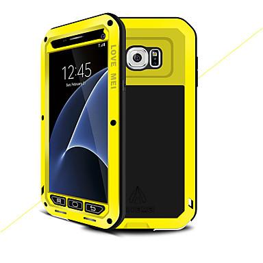 Недорогие Чехлы и кейсы для Galaxy S-Кейс для Назначение SSamsung Galaxy S7 Вода / Грязь / Надежная защита от повреждений Чехол Сплошной цвет Твердый Металл