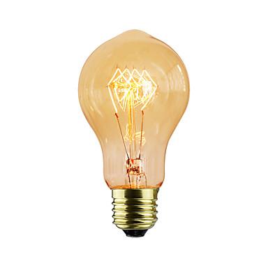 1db 40 W E26/E27 A60(A19) K Izzólámpa Vintage Edison izzó AC 220-240V V