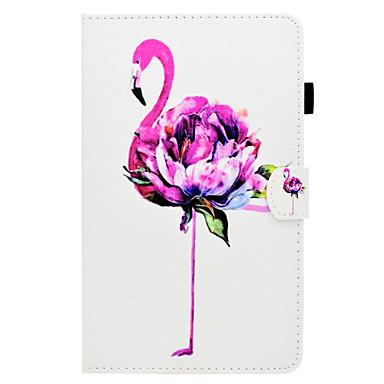 voordelige Samsung Tab-serie hoesjes / covers-hoesje Voor Samsung Galaxy Tab A 8.0 (2017) Kaarthouder / met standaard / Flip Volledig hoesje Flamingo Hard PU-nahka