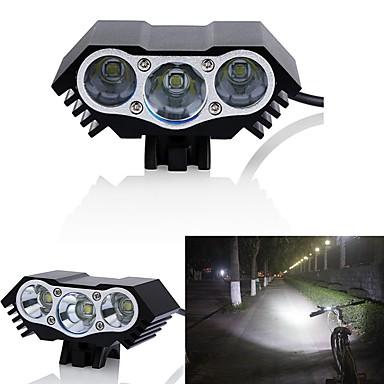 رخيصةأون اضواء الدراجة-LED اضواء الدراجة ضوء الدراجة الأمامي مصابيح الدراجة LED دراجة جبلية ركوب الدراجة ضد الماء وسائط متعددة سطوع رائع 18650 3000 lm دس بالطاقة أخضر / IPX-5
