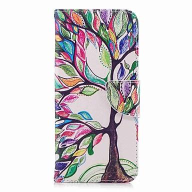 Недорогие Чехлы и кейсы для Galaxy S3-Кейс для Назначение SSamsung Galaxy S9 / S9 Plus / S8 Plus Кошелек / Бумажник для карт / со стендом Чехол дерево Твердый Кожа PU