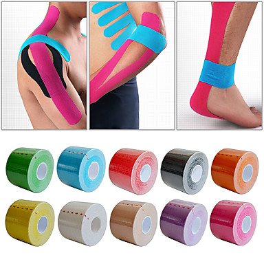 Non Stretch Support Tape for Leisure Sports / Winter Sports / Fitness Unisex Waterproof / Breathable / Protective Cotton Green / Pink / Light Blue