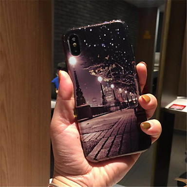 06594030 iPhone retro Vista Per per Plus città 7 Morbido iPhone 8 Per Plus Custodia Fantasia TPU 8 iPhone iPhone della disegno iPhone X X Apple PSnvqA4B