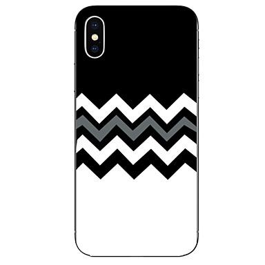 voordelige iPhone X hoesjes-hoesje Voor Apple iPhone X / iPhone 8 Plus / iPhone 8 Patroon Achterkant Lijnen / golven Zacht TPU