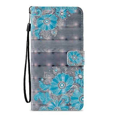 Недорогие Чехлы и кейсы для Galaxy S6-Кейс для Назначение SSamsung Galaxy S9 / S9 Plus / S8 Plus Кошелек / Бумажник для карт / со стендом Чехол Кружева Печать / Цветы Твердый Кожа PU