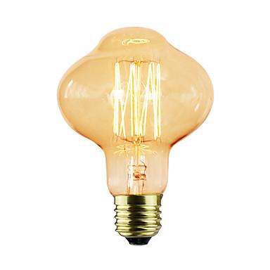 1db 40 W E26/E27 D80 K Izzólámpa Vintage Edison izzó AC 220-240V V