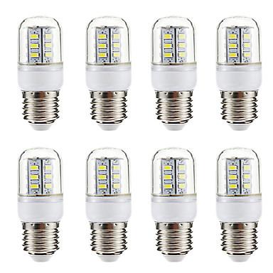 BRELONG® 8stk 3 W LED-kolbepærer 270 lm E14 E26 / E27 24 LED Perler SMD 5730 Varm hvid Hvid 220-240 V