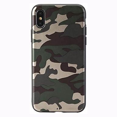 voordelige iPhone 6 hoesjes-hoesje Voor Apple iPhone X / iPhone 8 Plus / iPhone 8 Mat Achterkant Effen / Camouflage Kleur Zacht TPU