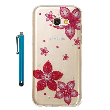 [$3.99] Case For Samsung Galaxy A5(2017) A3(2017) IMD Pattern Glitter Shine Back Cover Flower Soft TPU for A3(2017) A5(2017)