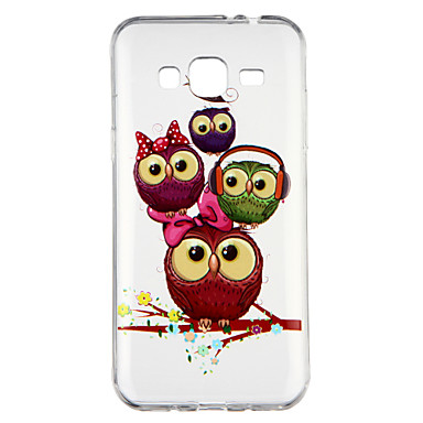 [$2.99] Case For Samsung Galaxy J3(2016) Transparent Pattern Back Cover Owl Cartoon Soft TPU for J3 (2016)
