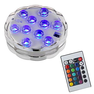 cheap Outdoor Lights-BRELONG 1 pcs 10LED RGB Dive Decorative Lights