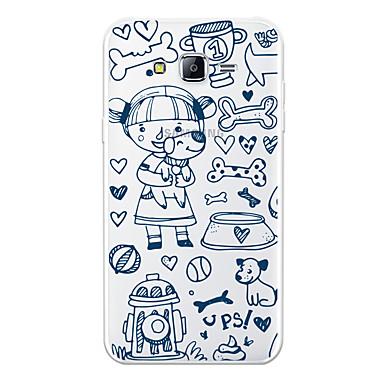 voordelige Galaxy J-serie hoesjes / covers-hoesje Voor Samsung Galaxy J7 (2017) / J7 (2016) / J7 Patroon Achterkant Hond / Cartoon Zacht TPU