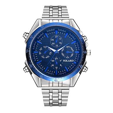 Χαμηλού Κόστους Ανδρικά ρολόγια-Ανδρικά Καθημερινό Ρολόι Χαλαζίας Υπερμεγέθη Ανοξείδωτο Ατσάλι Ασημί Μεγάλο καντράν Αναλογικό Μοντέρνα - Μαύρο / Μπλε Ναυτικό μπλε Πολεμικό / Λευκό
