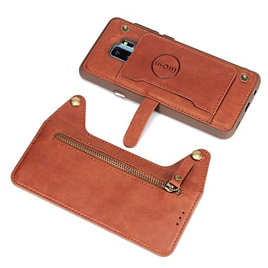 Case Kompatibilitás Samsung Galaxy S9 Plus   S8 Plus Pénztárca    Kártyatartó   Flip Fekete tok 4d96b79455