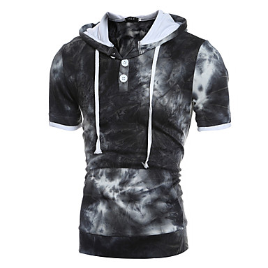 economico Abbigliamento uomo-Per uomo Moda città Taglia piccola Pantaloni - Fantasia geometrica Blu / Con cappuccio / Sport / Manica lunga / Primavera / Autunno