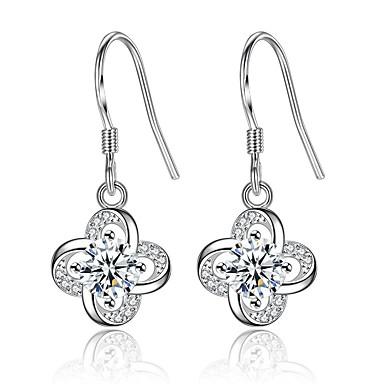 9535abb563d3 abordables Pendientes-Mujer Diamante Zirconia Cúbica diamante pequeño  Pendientes colgantes Zirconio Aretes Clover damas Dulce
