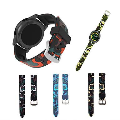 Недорогие Ремешки для часов Huawei-Ремешок для часов для Gear Sport / Gear S2 Classic / Huawei Watch 2 Samsung Galaxy / Huawei / Xiaomi Спортивный ремешок силиконовый Повязка на запястье