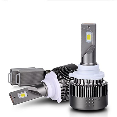 voordelige Autokoplampen-premium koplamplijn verlichtingspatroon ingebouwde dubbele kogel koelventilator 30% lichtheid meer led-koplampset h1 h3 h7 h11 9006
