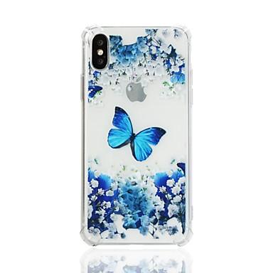 voordelige iPhone X hoesjes-hoesje Voor Apple iPhone X / iPhone 8 Plus / iPhone 8 Schokbestendig / Patroon Achterkant Vlinder Zacht TPU
