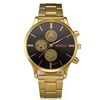 رجالي ساعة فستان ذهبي طرد كبير مماثل سوار الحد الأدنى - أسود وذهبي ذهبي سنة واحدة عمر البطارية / SSUO LR626