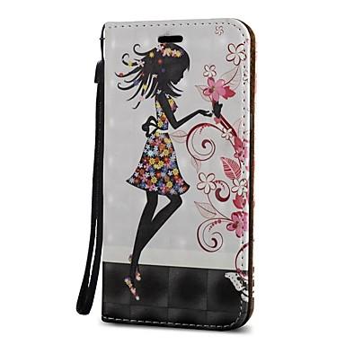 Недорогие Чехлы и кейсы для Galaxy S3-Кейс для Назначение SSamsung Galaxy S9 / S9 Plus / S8 Plus Кошелек / Бумажник для карт / со стендом Чехол Соблазнительная девушка Твердый Кожа PU