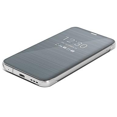 billige Etuier til LG-Etui Til LG G6 Spejl / Flip / Ultratyndt Fuldt etui Ensfarvet Hårdt PU Læder for LG G6