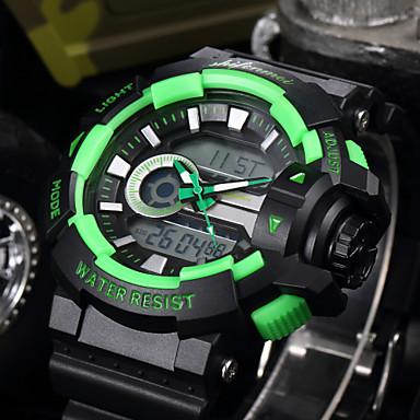 Χαμηλού Κόστους Ανδρικά ρολόγια-SHIFENMEI Ανδρικά Αθλητικό Ρολόι Ιαπωνικά Ψηφιακή Μαύρο 30 m Ανθεκτικό στο Νερό Ημερολόγιο Καθημερινό Ρολόι Αναλογικό-Ψηφιακό Πολυτέλεια Μοντέρνα - Κόκκινο Πράσινο Μπλε Απαλό / Ενας χρόνος