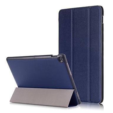 billige Andre etuier-Etui Til Asus ZenPad 10 Z301M / ZenPad 10 Z300CL Origami Fuldt etui Ensfarvet Hårdt PU Læder for ASUS ZenPad 10 Z301ML / ASUS ZenPad 10 Z301MFL / ASUS ZenPad 10 Z301MF
