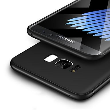 Pouzdro Uyumluluk Samsung Galaxy S8 Plus S8 Ultra İnce Buzlu Arka Kapak Tek Renk Yumuşak TPU için S8 Plus S8