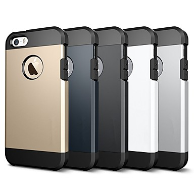 Недорогие Кейсы для iPhone-Кейс для Назначение Apple iPhone X / iPhone 8 Pluss / iPhone 8 Защита от удара / броня Кейс на заднюю панель Однотонный / броня Мягкий ТПУ
