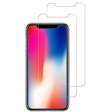 voordelige iPhone screenprotectors-AppleScreen ProtectoriPhone X 9H-hardheid Voorkant screenprotector 2 pcts Gehard Glas