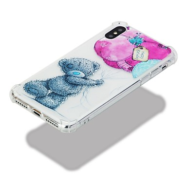 retro iPhone 06644102 Animali iPhone agli Fantasia iPhone disegno urti Apple TPU per Custodia X Per Per 8 X Morbido Transparente Resistente xRwOUWBqS