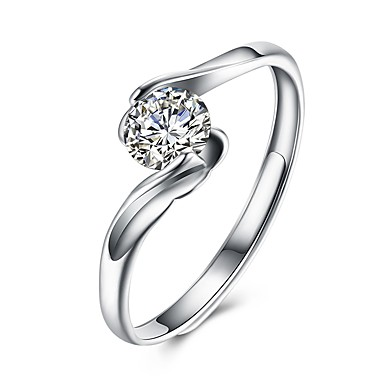 bc95d701f9 Women's Diamond Cubic Zirconia Geometrical Simulated Open Cuff Ring wrap ring  S925 Sterling Silver Ladies Fashion