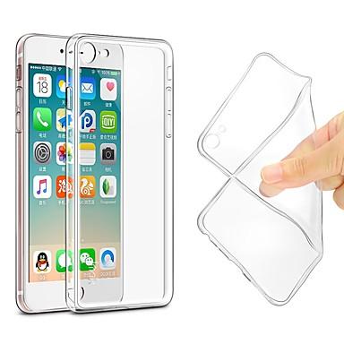 케이스 제품 Apple iPhone X / iPhone 8 울트라 씬 / 투명 바디 뒷면 커버 솔리드 소프트 TPU 용 iPhone X / iPhone 8 Plus / iPhone 8