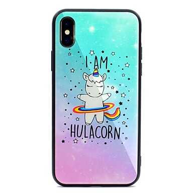Vetro iPhone disegno per Unicorno 8 Plus iPhone Resistente 06633020 Per 8 iPhone X retro iPhone Custodia temperato Per Apple Plus Fantasia X qZBBOawx