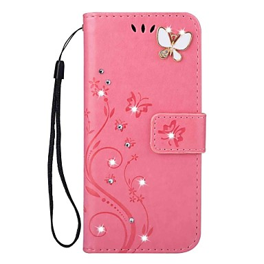 [$8.49] Case For Samsung Galaxy S9 S9 Plus Card Holder Wallet Rhinestone with Stand Flip Magnetic Embossed Full Body Cases Butterfly Hard PU