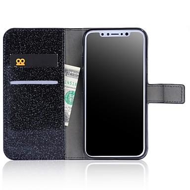 Plus Integrale Tinta iPhone sintetica iPhone X iPhone iPhone per 06644154 Apple X Per pelle Custodia Glitterato Con 8 diamantini unita Resistente xnYBPIq