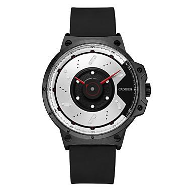 Χαμηλού Κόστους Ανδρικά ρολόγια-CADISEN Ανδρικά Αθλητικό Ρολόι Ιαπωνικά σιλικόνη Μαύρο 30 m Ανθεκτικό στο Νερό Δημιουργικό Απίθανο Αναλογικό Μοντέρνα - Λευκό Μαύρο Δύο χρόνια Διάρκεια Ζωής Μπαταρίας