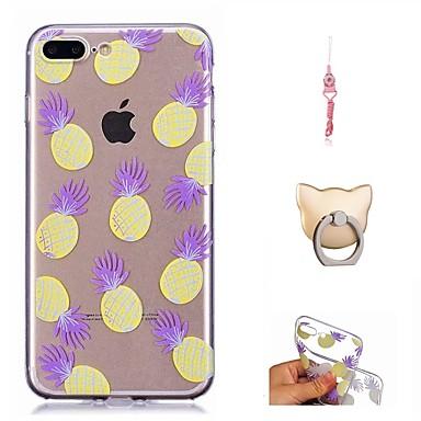 Per Morbido X 8 Custodia 8 Fantasia Per 06680690 Plus TPU per disegno iPhone Transparente X Apple iPhone iPhone Frutta retro iPhone 4wqwd7p