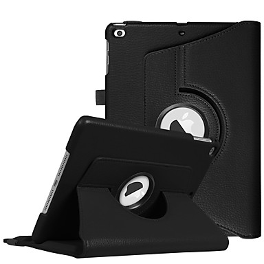 Case For Apple iPad (2018) / iPad Pro 10.5 with Stand / 360° Rotation Full Body Cases Solid Colored Hard PU Leather for iPad (2018) /