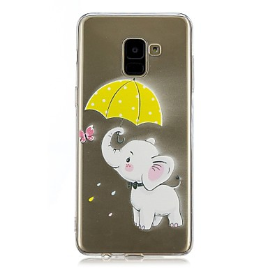 voordelige Galaxy A-serie hoesjes / covers-hoesje Voor Samsung Galaxy A5(2018) / Galaxy A7(2018) / A5 (2017) Transparant / Patroon Achterkant Olifant Zacht TPU