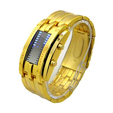 Недорогие Часы на металлическом ремешке-Муж. Спортивные часы электронные часы С механизмом Ecology-Drive Нержавеющая сталь Черный / Серебристый металл / Золотистый 30 m Защита от влаги Секундомер Творчество Цифровой Роскошь Винтаж -