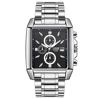 זול שעוני גברים-בגדי ריקוד גברים שעוני ספורט קווארץ מתכת אל חלד כסף 30 m שעונים יום יומיים אנלוגי קלסי יום יומי אופנתי - זהב שחור כסף שנה אחת חיי סוללה